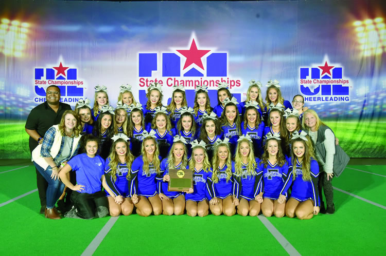 FHS Cheer wins Silver at State UIL, named Fight Song Champ